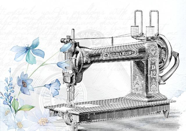 starý šicí stroj obrázek