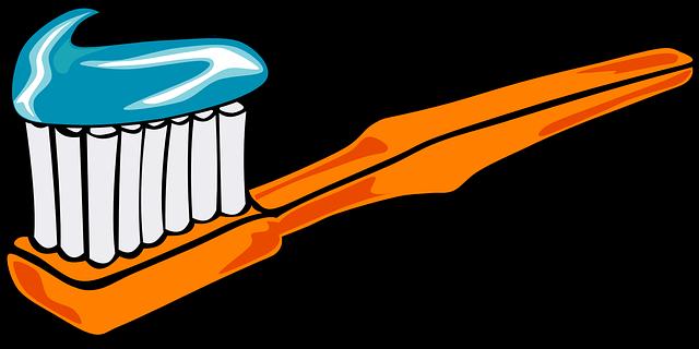 ilustrovaný kartáček a pasta