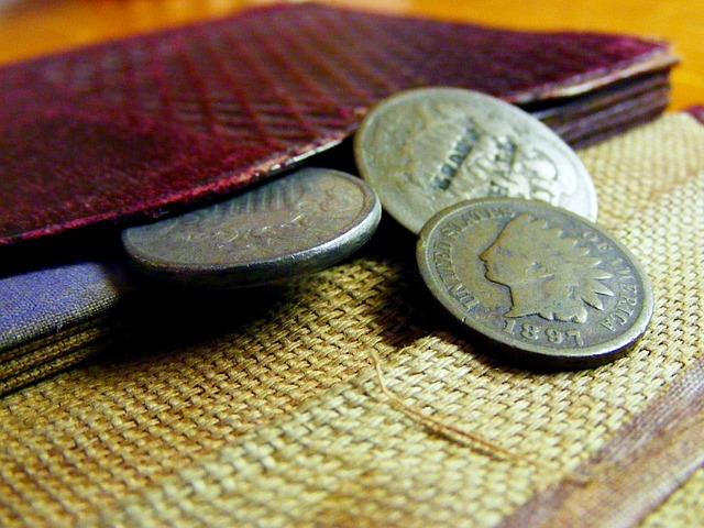 drobné mince s indiánem