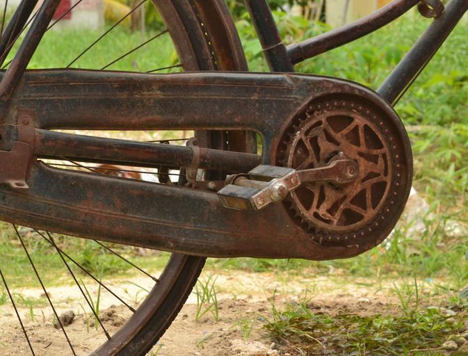Poněkud zastaralejší součást bicyklu